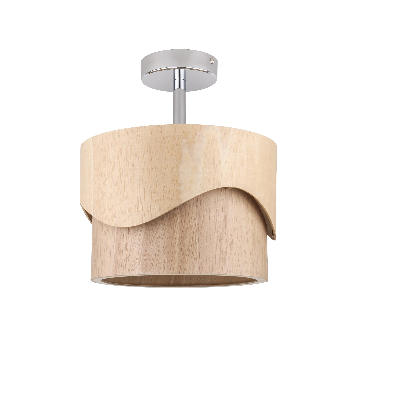 Plafonier modern din lemn Akira Wood stejar E27 60W
