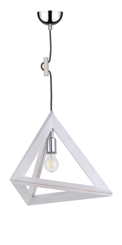 Lampa wisząca Spot LIght Trigonon dąb bielony / chrom / antracite E27 60W