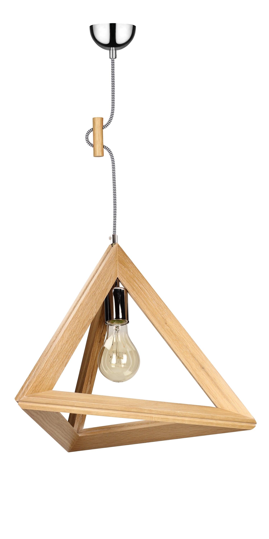 Lampa din lemn TRIGONON fără umbră