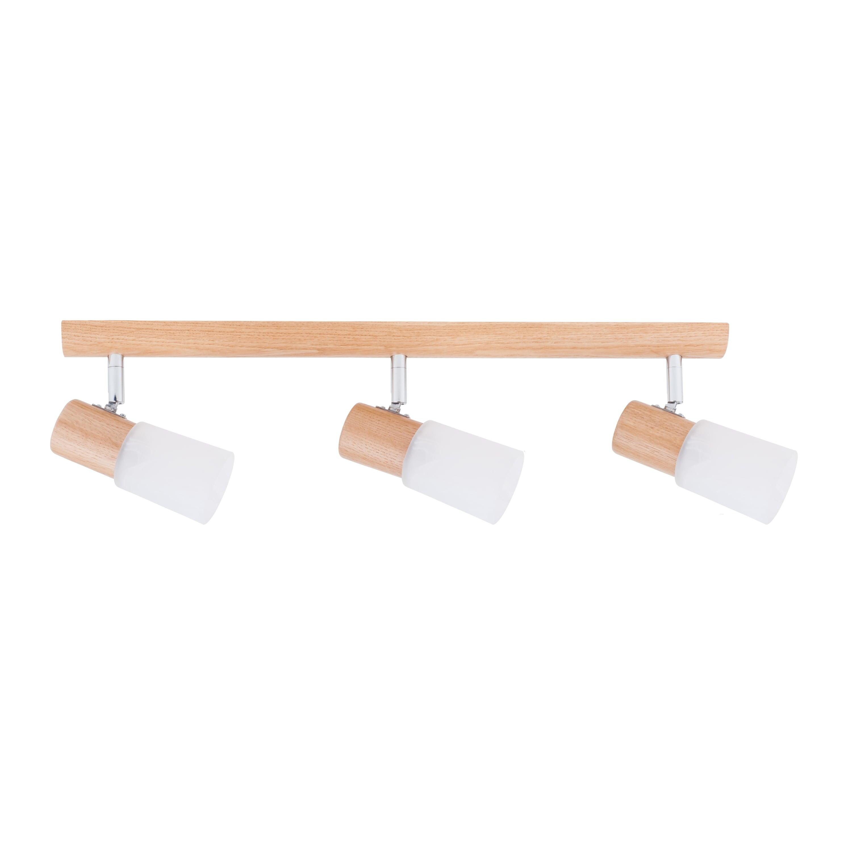 Triple Strip spot Kira Wood stejar / crom / alb E14 40W