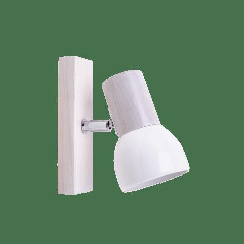 Aplica Svenda stejar alb / crom / alb E27 60W