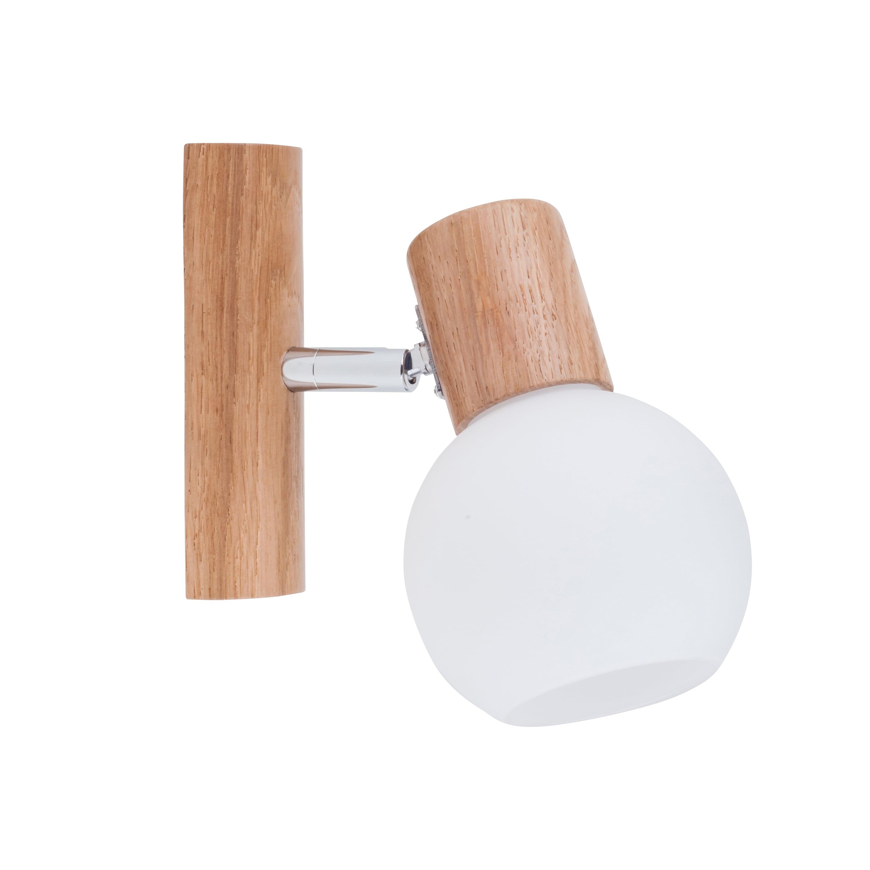 Lampă de perete Stejar Karin / crom / alb E14 40W