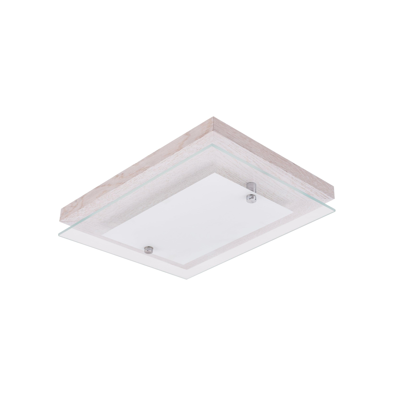 Plafonul Finn dąb bielony / crom / LED alb 10W