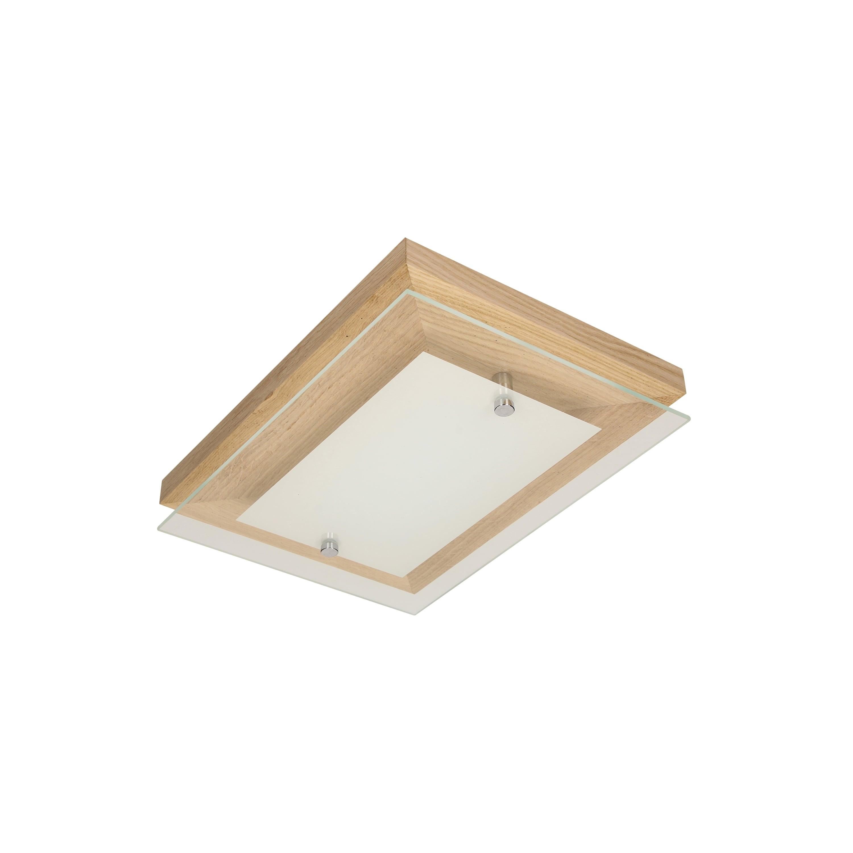 Plafon stejar finlandez / crom / LED alb 10W