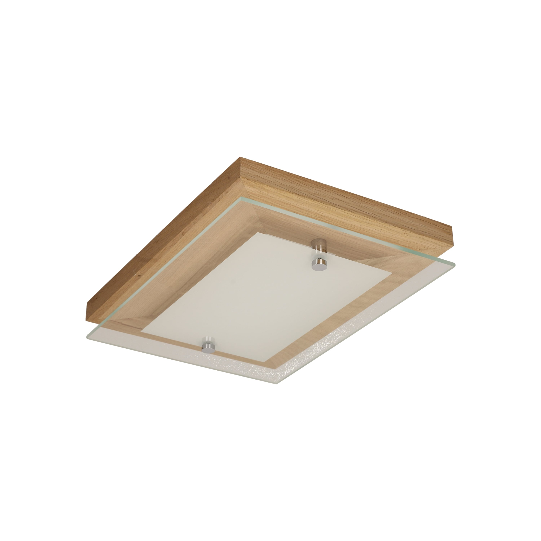 Plafon de stejar finlandez cu ulei / crom / LED alb 10W
