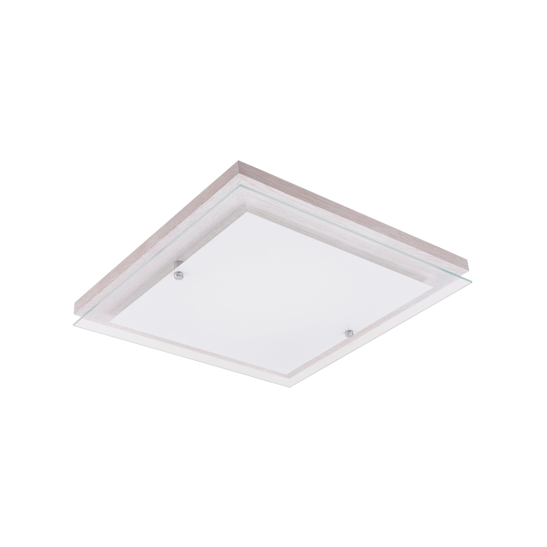 Plafonul Finn dąb bielony / crom / LED alb de 14W