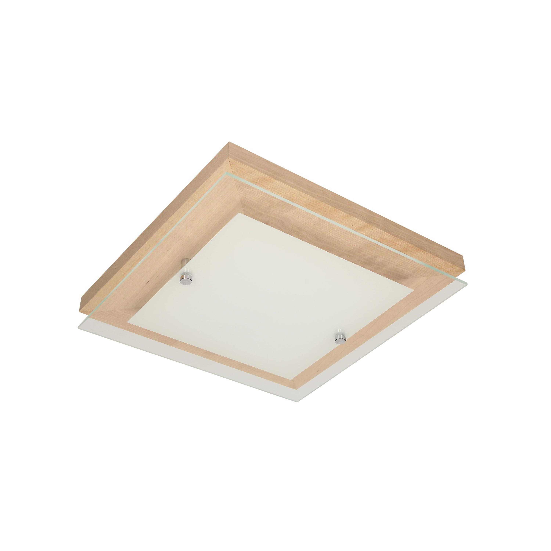 Plafon Finn brzoza / crom / LED alb 14W