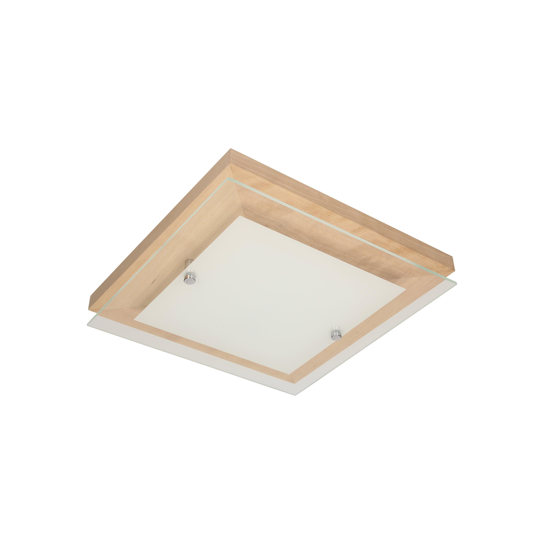 Plafonier stejar finlandez / crom / LED alb 14W