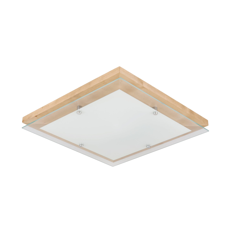 Plafon Finn brzoza / crom / LED alb 24W