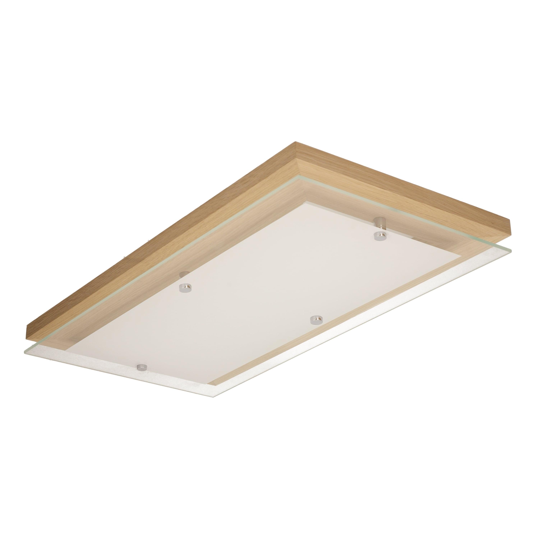 Plafon de stejar finlandic oliț / crom / LED alb 24W Oblong