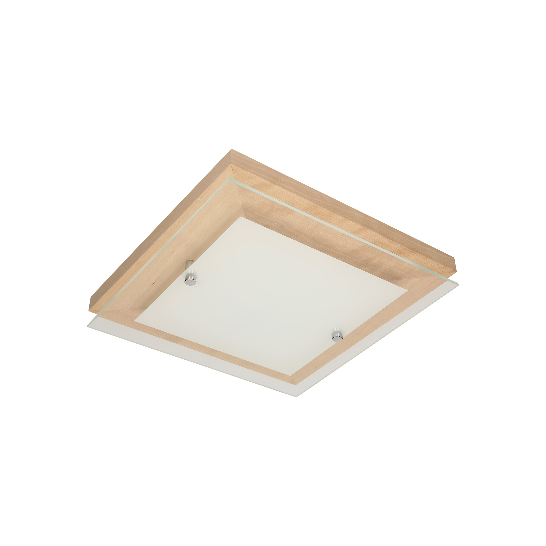 Plafonier stejar finlandez / crom / LED alb 2.4-14W