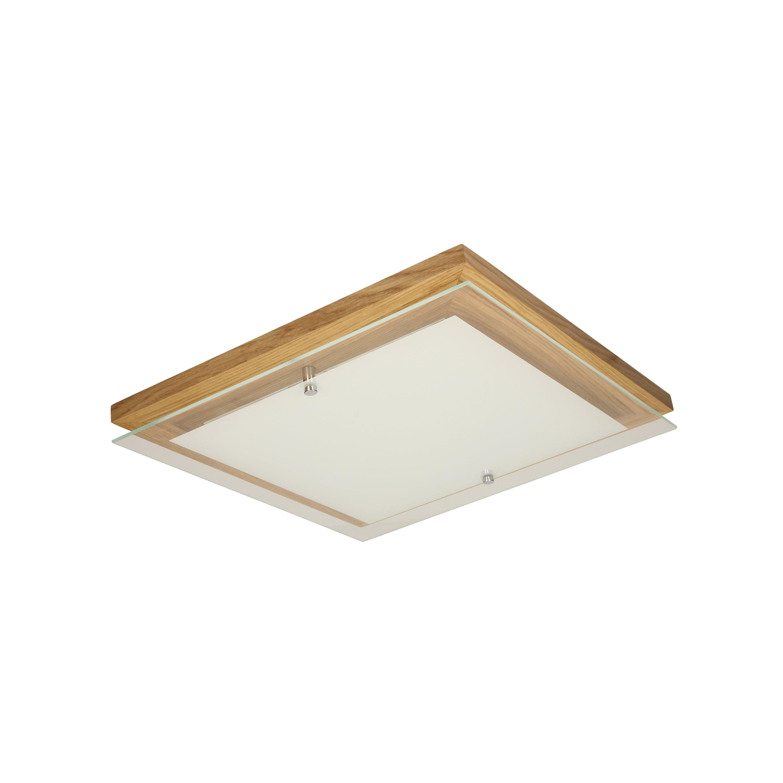 Plafon de stejar finlandic ulei / crom / LED alb 2.4-14W