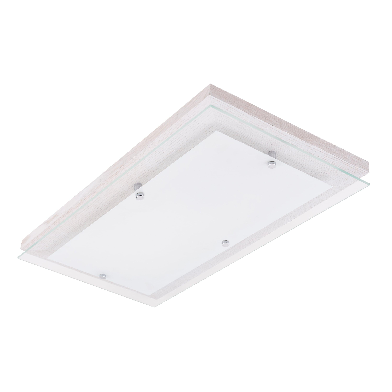 Plafonul Finn dąb bielony / crom / LED alb 3,2-24W
