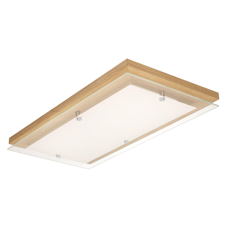 Plafonier stejar finlandez / crom / LED alb 3.2-24W