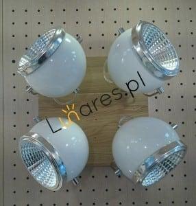 Plafon Ball Lemn de stejar ulei / crom / alb LED GU10 5,5W small 1