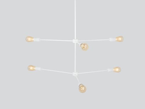 Lampa suspendată TRISO 6 - alb
