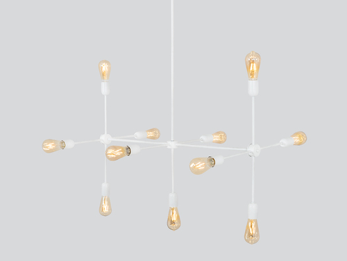 Lampa suspendată TRISO 11 - alb