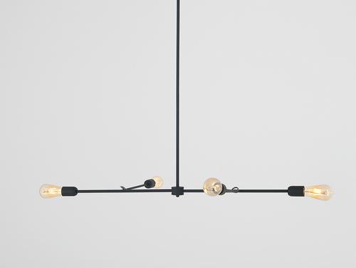 Lampa suspendată TRISO 4 - negru