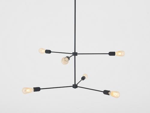 Lampa suspendată TRISO 6 - negru