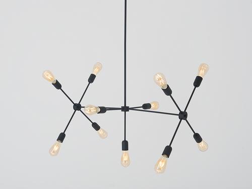 Lampa suspendată TRISO 11 - negru