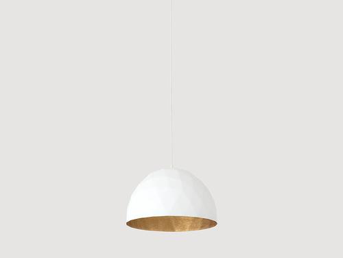 Lampa suspendată LEONARD M - auriu și alb