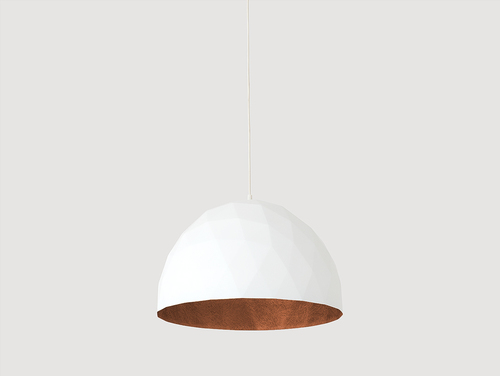 Lampa suspendată LEONARD L - alb-cupru