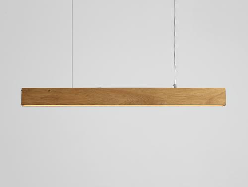 Lampa suspendată LINE PLUS L WOOD - stejar