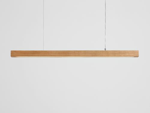Lampa suspendată LINE PLUS L WOOD LOW - stejar