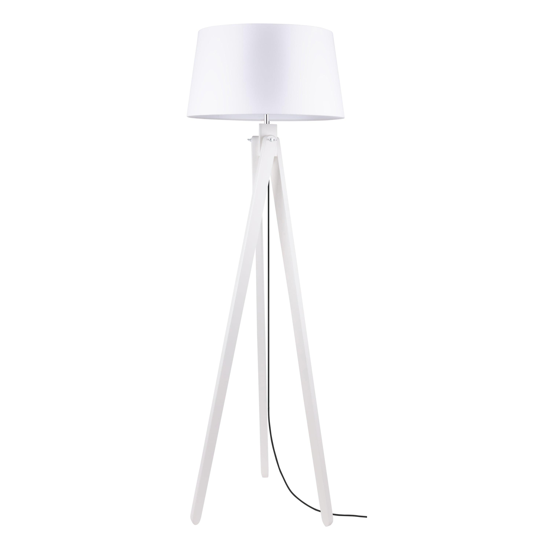 Lampa de podea Rune dąb bielony / antracit / alb E27 60W