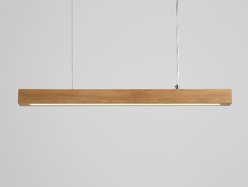 Lampa suspendată LINE PLUS M WOOD LOW - stejar