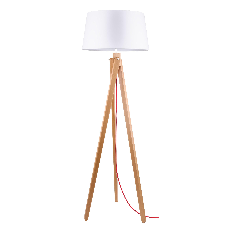 Lampa de podea Rune buk / czerwony / alb E27 60W