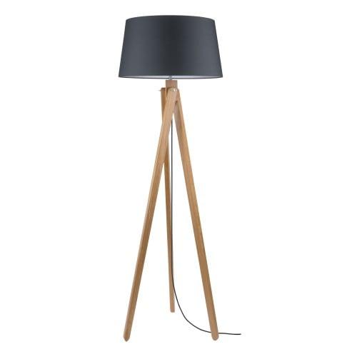 Lampa de podea Rune dąb / antracit / antracit E27 60W