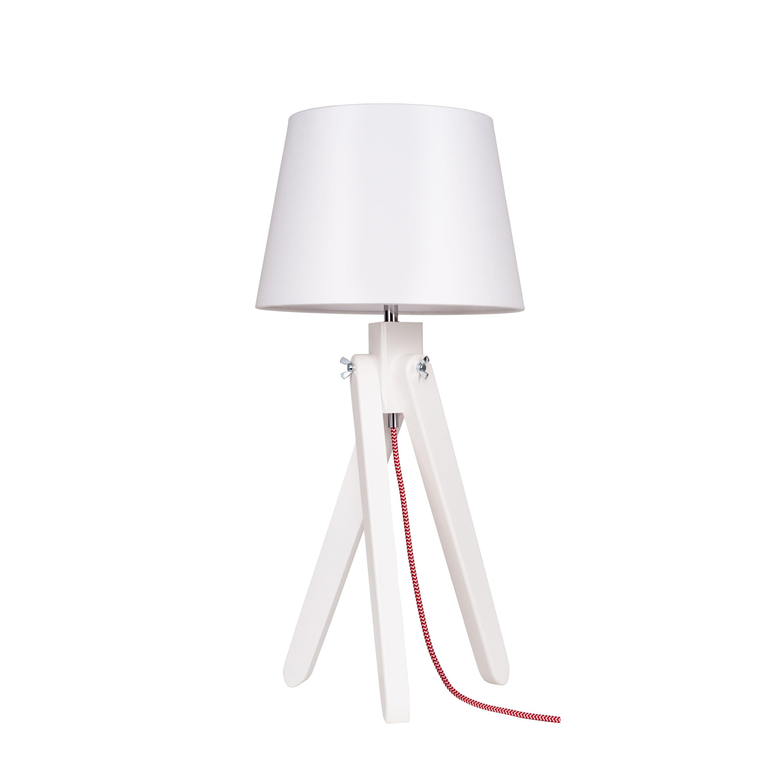 Lampa de masă Rune alb / roșu-alb / alb E27 60W