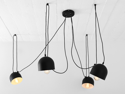 Lampa suspendată POPO 4 - negru