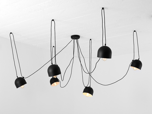 Lampa suspendată POPO 6 - negru