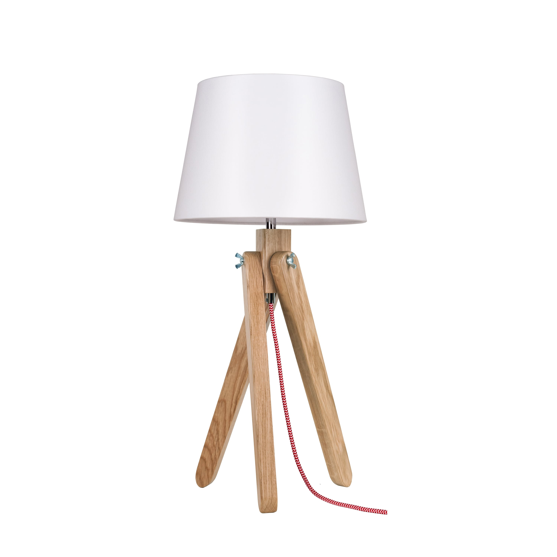 Lampa de masă Spot Light Rune stejar / roșu / alb / alb E27 60W