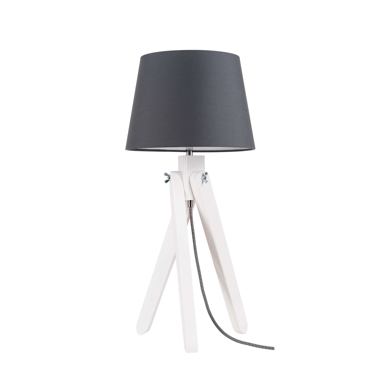Lampa de masă Rune biały / czarny- biały / antracit E27 60W