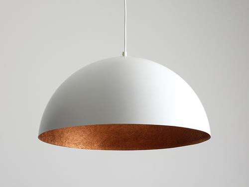 Lampa suspendată Lord 50 - alb-cupru