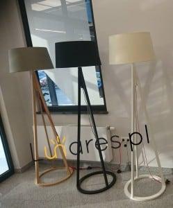 Lampă de podea Konan dąb bielony / antracit / alb E27 60W small 1