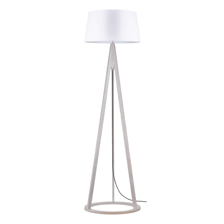 Lampă de podea Konan dąb bielony / antracit / alb E27 60W