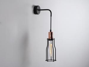 Lampa de perete WORKER TALL WALL - negru small 0
