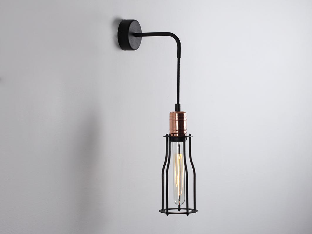 Lampa de perete WORKER TALL WALL - negru