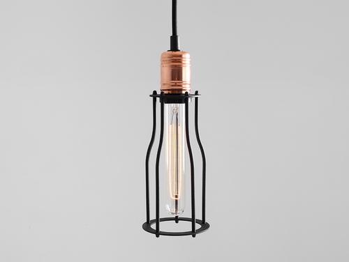 Lampa suspendată WORKER TALL - negru