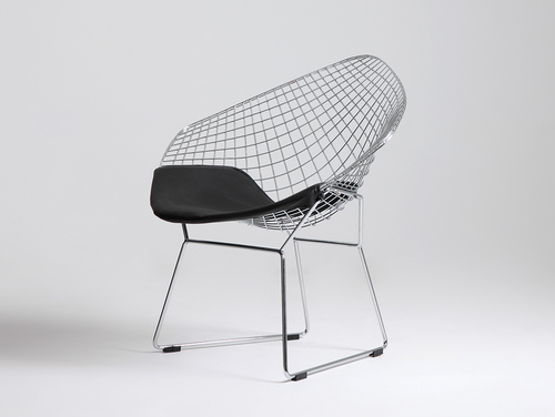 Scaun DIAMENT - pernă argintie, neagră