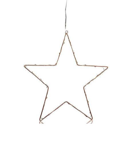 NORDGÅRD LED Star 40cm B / O Cu cupru conector