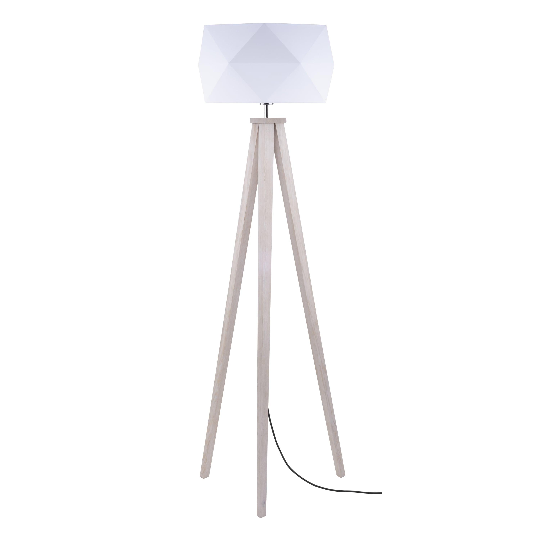 Lampa de podea Finja dąb / antracit / alb E27 60W