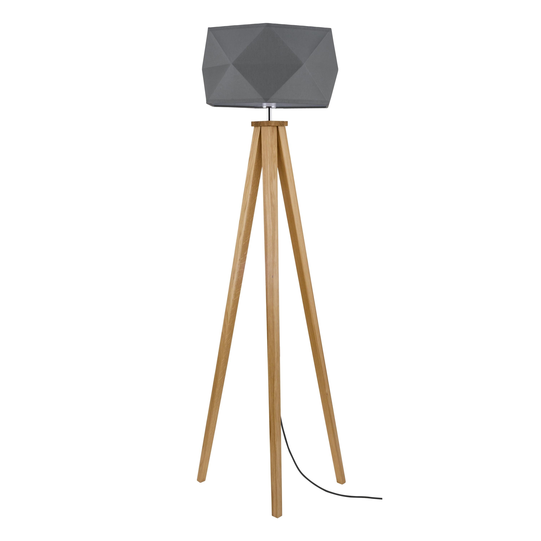 Lampa de podea Finja dąb / antracit / antracit E27 60W