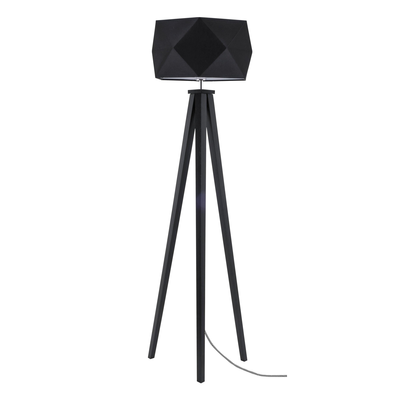 Lampa de podea Finja negru / negru și alb / negru E27 60W