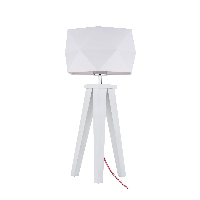 Lampa de masă Finja biała / czerwono-biały / albă E27 60W