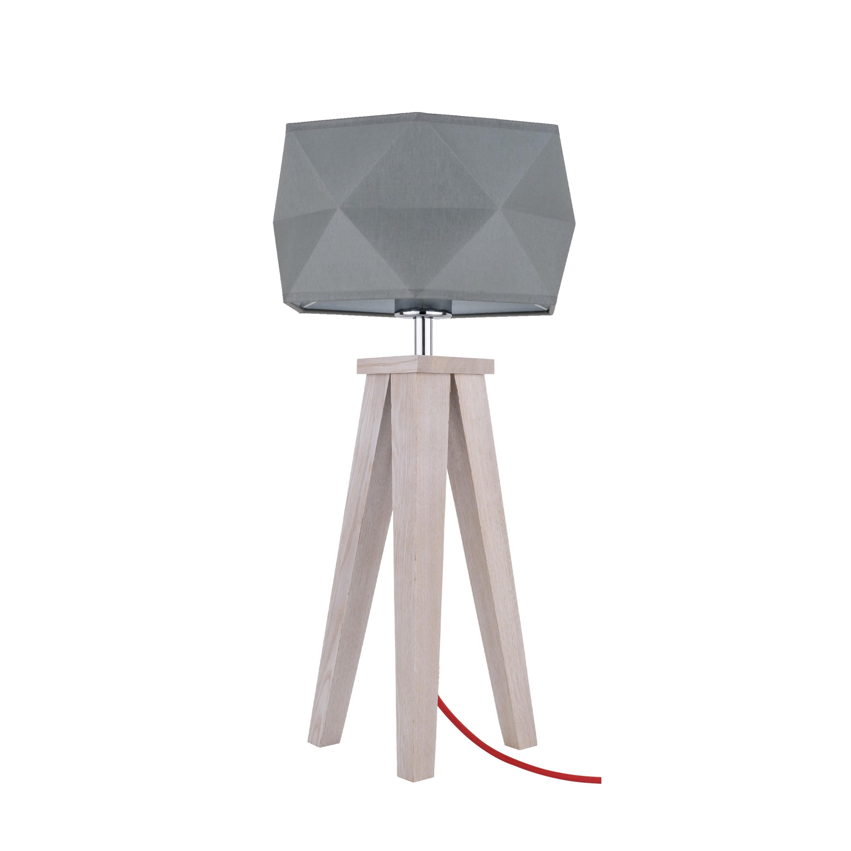 Lampa de masă Finja dąb / czerwony / antracit E27 60W